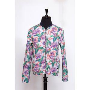 Zip Up Tropical Print Jacket (item No. 319)